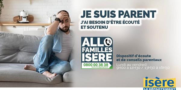 Allo Familles Isère: N° vert d'écoute à destination des familles